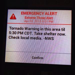 Tornado warning last week..kept thinking of that movie 'Twister' :-O