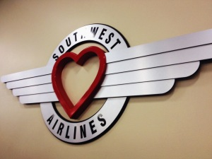 Southwest airlines! Love their logo..